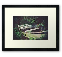 The wood that pined for the ocean. Framed Print