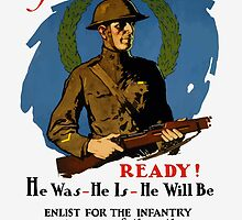 Enlist For The Infantry -- WWI by warishellstore