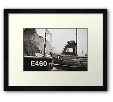 Those boats which lay upon the land. Framed Print