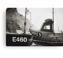 Those boats which lay upon the land. Canvas Print
