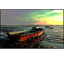 Lonely Mud Boats Photographic Print