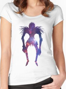 Space Shinigami  Women's Fitted Scoop T-Shirt