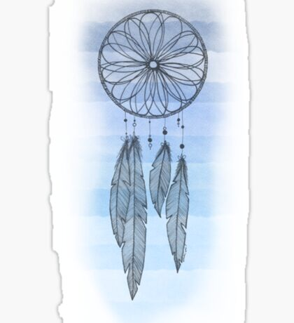 Shades of Blue Dreamcatcher Sticker