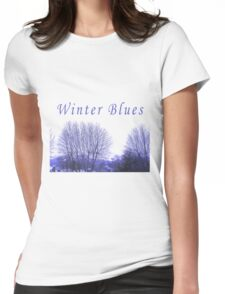 Winter Blues Womens Fitted T-Shirt