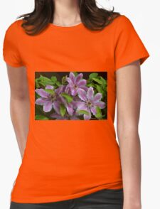 Clematis in Pink Womens Fitted T-Shirt