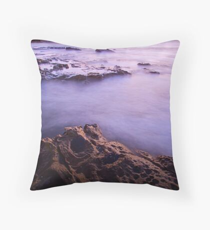 Newcastle Beach Sunrise (Nobbies) Throw Pillow