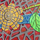 266 - MACHO FLOWER - DAVE EDWARDS - COLOURED PENCILS & FINELINERS - 2009 by BLYTHART