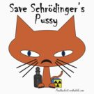 Schrodingers Pussy - black text by Geek Shirts
