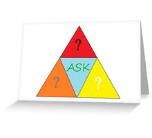 ask questions Greeting Card