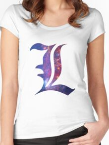 L Death Note Women's Fitted Scoop T-Shirt