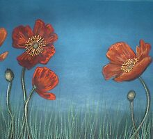 Poppy Field II by Cherie Roe Dirksen