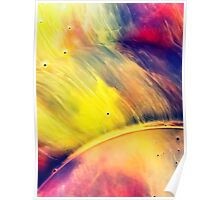 Solar storm 2 - watercolor abstraction painting Poster