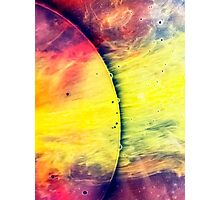 Solar storm 4 - watercolor abstraction painting Photographic Print