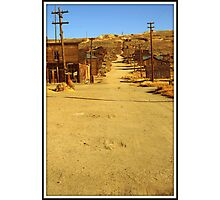 old usa western gold ghost mining town of bodie Photographic Print