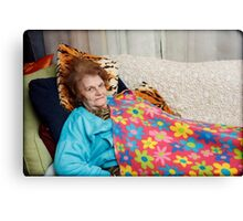 Lying Down on Mothers Day Canvas Print