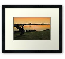 Swan River - Perth Western Australia   Framed Print