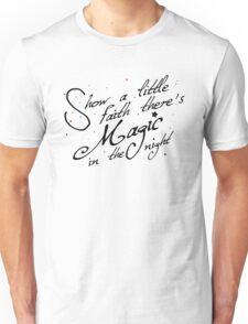 Magic in the night - black text Unisex T-Shirt