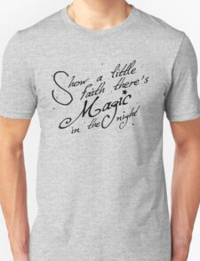Magic in the night - black text Unisex T-Shirt