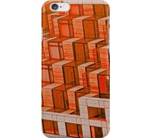 Abstract Architecture in Red iPhone Case/Skin