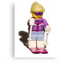 Lego skier Canvas Print