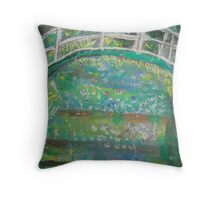 Claude Monet by Kaser Throw Pillow