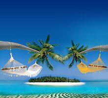 Beach hammocks  by Atanas Bozhikov