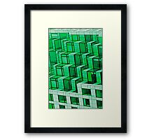 Abstract Architecture in Green Framed Print