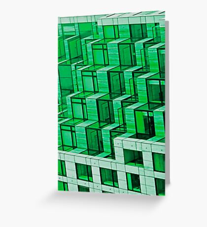 Abstract Architecture in Green Greeting Card