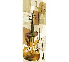 Cubist Violin Photographic Print