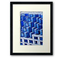 Abstract Architecture in Blue Framed Print
