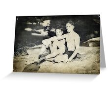 Young Men at Bear Creek Greeting Card