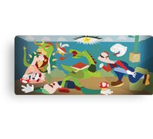 War of Mushroom Kingdom Canvas Print
