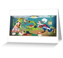War of Mushroom Kingdom Greeting Card