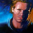 Jeff Buckley in oil by kenmeyerjr