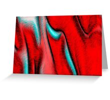 Red Evolution Greeting Card