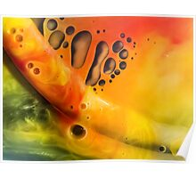 Abstraction watercolor painting - orange Poster