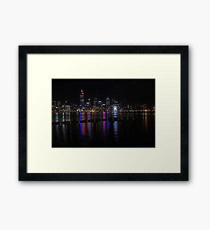Perth City At Night  Framed Print