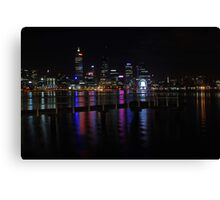 Perth City At Night  Canvas Print