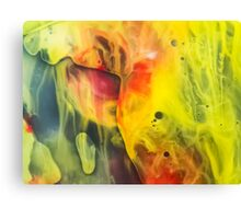 Abstraction watercolor painting - cave Canvas Print