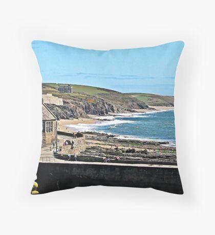 """ The Cornish Coastline"" Throw Pillow"