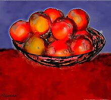 Oranges in Bowl by Ladydi