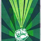 Green Lantern's light by Ajeyes