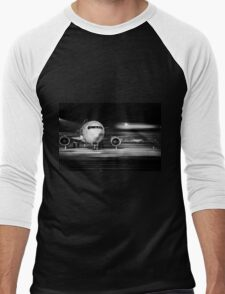 airplane front close-up Men's Baseball ¾ T-Shirt