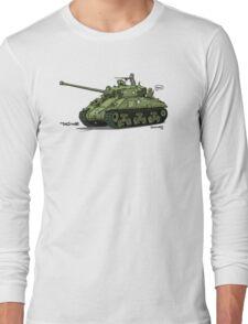 The Dogs of War: Sherman Tank Long Sleeve T-Shirt