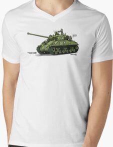 Dogs of War: Sherman Tank Mens V-Neck T-Shirt