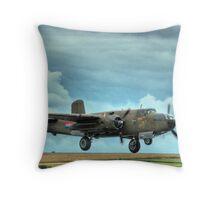B-25 Mitchell Bomber Throw Pillow