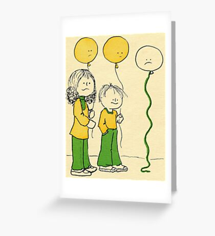 Lonely Balloon Greeting Card