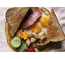 Sunday Morning Ham and Eggs 2 Photographic Print