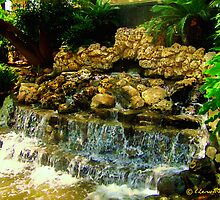 Fall Fountain on The River Walk by Lisa Taylor