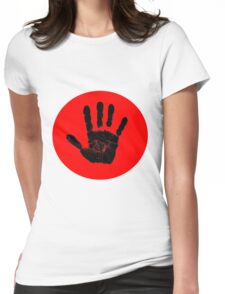 The Hand (Black Hand Print) Womens Fitted T-Shirt